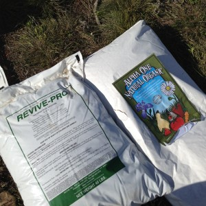 Products were donated by Revive and Alpha One Fertilizer.